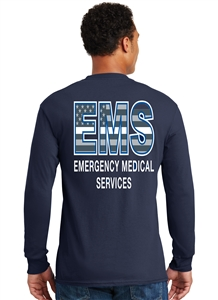 EMS Thin White Line Flag Long Sleeve T-shirt