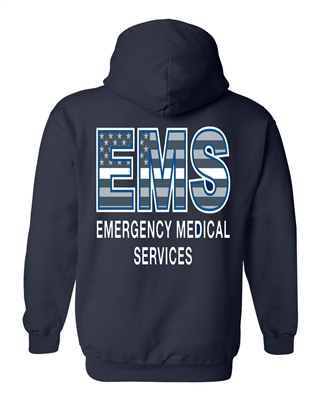 EMS Thin White Line Flag Hooded Sweatshirt