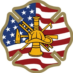 U.S. Firefighter Maltese Flag Decal