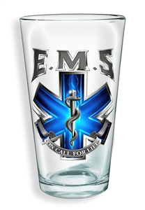 EMS on Call for Life Pint Glass