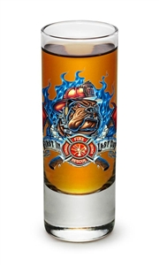 "Fire Fighter ""First in Last out""  2oz Shooter Glass"