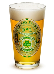 Fire Fighter Irish 16oz Pint Glass