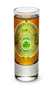 Fire Fighter Irish 2oz Shooter Glass