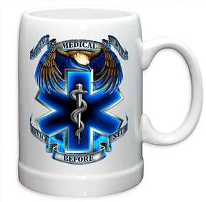 EMS Service Before Self 20oz stoneware Glass