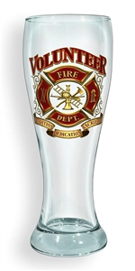 Volunteer Firefighter Pilsner Glass