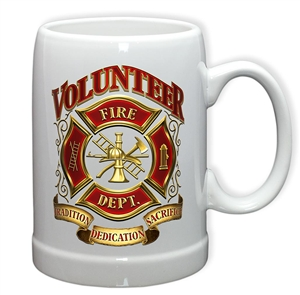 Firefighter Volunteer PS20oz Stoneware Glass