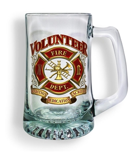 Volunteer Firefighter Tankard Glass