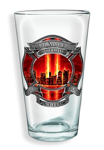 Firefighter Red Tribute High Honor Pint Glass