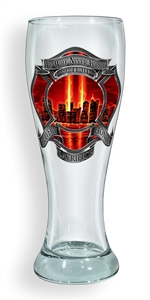 Firefighter Red Tribute High Honor Pilsner Glass