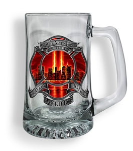 Firefighter Red Tribute High Honor Tankard Glass