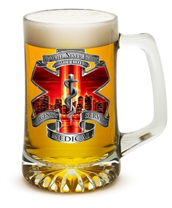 EMS 9/11 We Will Never Forget 25oz Tankered Glass
