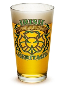 Fire Fighter Irish Hertitage 16oz Pint Glass