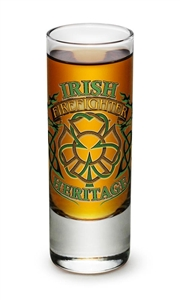 Fire Fighter Irish Hertitage 2oz Shooter Glass