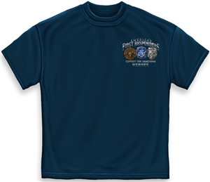 America's First Responders Bravery in Action T-Shirt
