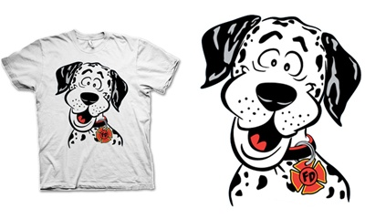 Fire Dalmation Kids T-Shirt