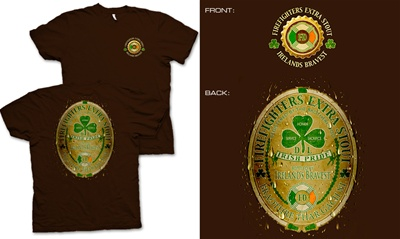 Ireland's Bravest Firefighter T-Shirt