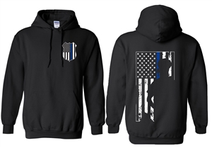 Thin Blue Line Hooded Sweatshirt