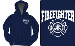 Firefighter Maltese Cross Hooded Sweatshirt
