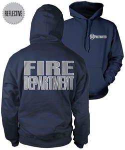 Firefighter Reflective Hooded Sweatshirt