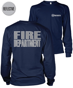 Firefighter Reflective Long Sleeve T-Shirt