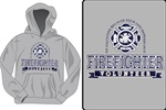 Firefighter Pride and Valor Hooded Sweatshirt