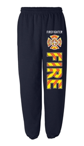 Firefighter Safety Stripe Sweatpants