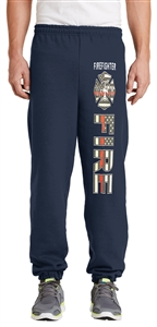 Firefighter Thin Red Line Flag Sweatpants
