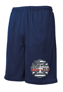 Firefighter Thin Red Line Flag Shorts