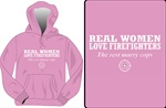 Real Women Love Firefighters Hooded Sweatshirt