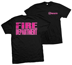 T-shirt Lifeline Black with pink & white print