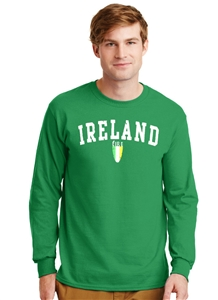 Ireland Eire Shield Long Sleeve T-Shirt