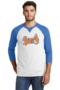New Era® Sueded Cotton Blend 3/4-Sleeve Baseball Raglan Tee
