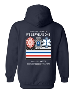 We Serve as One Hooded Sweatshirt