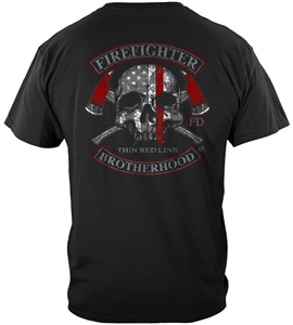 Firefighter Brotherhood Thin Red Line T-shirt