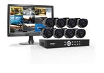 "First Alert BRK DCAD8810-70019 SmartBridge Wired System 8 Channel/ 8 Camera Full D1 DVR Kit with 18.5"" LCD Monitor"
