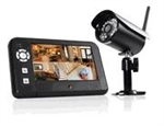 "First Alert BRK DW-700 One Indoor/Oudoor 2.4 GHz Digital Wireless Color Camera with 7"" Digital Display"