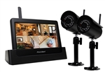 "First Alert BRK DWH-472 2.4 GHz 4 Channel Digital Wireless DVR with 7"" Touch Screen and 2 Cameras"