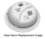BRK Electronics First Alert HD6135F 120V AC/DC Hardwired Heat Alarm (Upgraded to HD6135FB)