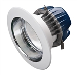 "CREE Lighting CR4-575L-27K-12-E26-D 4"" LED Downlight, 2700K Color Temperature, 575 lumens, E26 Base, Specular Reflector"