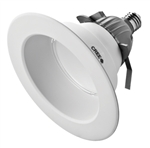 "CREE Lighting CR6-625L-30K-12-E26 6"" LED Downlight, 3000K Color Temperature, 625 lumens, 120V, E26 Base, True White"