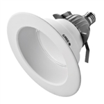 "CREE Lighting CR6-625L-40K-12-E26 6"" LED Downlight, 4000K Color Temperature, 625 lumens, 120V, E26 Base, True White"