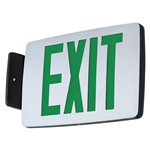 Compass Lighting CCESGE Thin Die-Cast LED Emergency Exit with Emergency Battery Back Up, 1W, Single-Face, Wall, End or Ceiling Mounted, Green