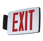 Compass Lighting CCESRE Thin Die-Cast LED Emergency Exit with Emergency Battery Back Up, 1W, Single-Face, Wall, End or Ceiling Mounted, Red
