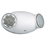Compass Lighting CU2 White Thermoplastic, Dual-Head LED Emergency Light , 120/277 Input, Damp Location Listed, 3 VDC, 1 Watt