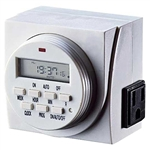 Fantech FTD7 7 Day Heavy-Duty Grounded Programmable Digital Timer, 15A