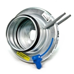 Fantech IR4 Galvanized steel Adjustable Iris Damper with Integral Airflow Pressure Taps 4 inch Duct