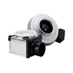 Fantech PB100H (PB110H) Premium Bathroom Exhaust Fan Kit 110 CFM, 4 inch Round Duct with 50 Watt Halogen Single Grille