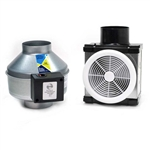 Fantech PB190 Premium Bathroom Exhaust Fan Kit 190 CFM, 6 inch Round Duct with Single Grille
