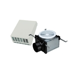 Fantech PBW110 Exterior Wall Mount Premium Bathroom Exhaust Fan Kit 120CFM, 4 inch Round Duct with Single Grille