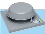 Fantech REC6 Roof Exhauster Attic Ventilation, Base for Installation with Curb 227 CFM, 6 inch Round Duct